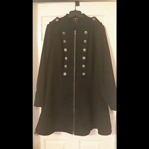 NWT Torrid Black Military Coat
